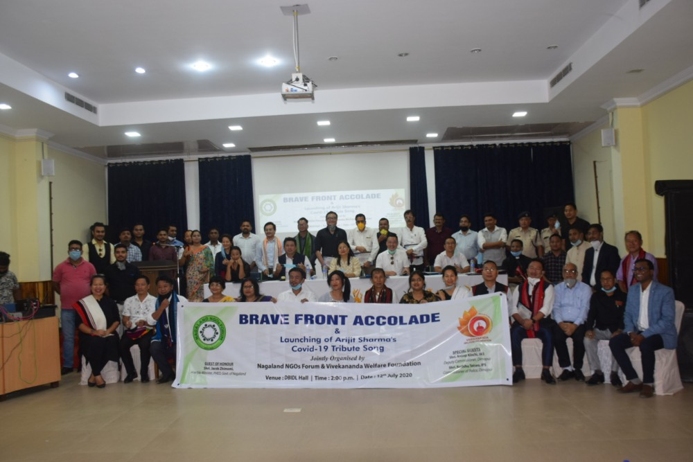Section of gathering during the 'Brave Front Accolade' programme organized by Nagaland NGOs Forum (NNF) in collaboration with Vivekananda Welfare Foundation (VWF) held at DBIDL Hall, Bon Bosco campus, Dimapur on July 12.