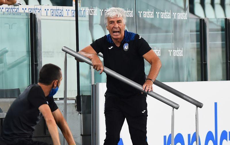 Atalanta coach Gian Piero Gasperini reacts, as play resumes behind closed doors following the outbreak of the coronavirus disease (COVID-19) REUTERS/Massimo Pinca