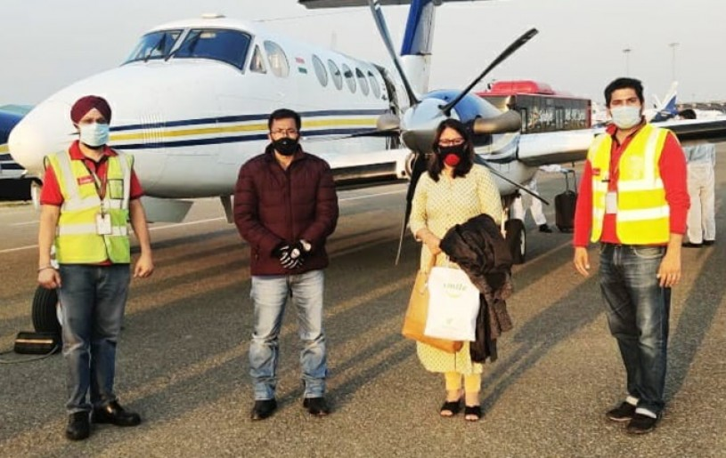Dinko Singh, accompanied by his wife Ngangom Babai Devi, flew to Delhi in April in a SpicJet air ambulance for radiation therapy to treat his cancer.