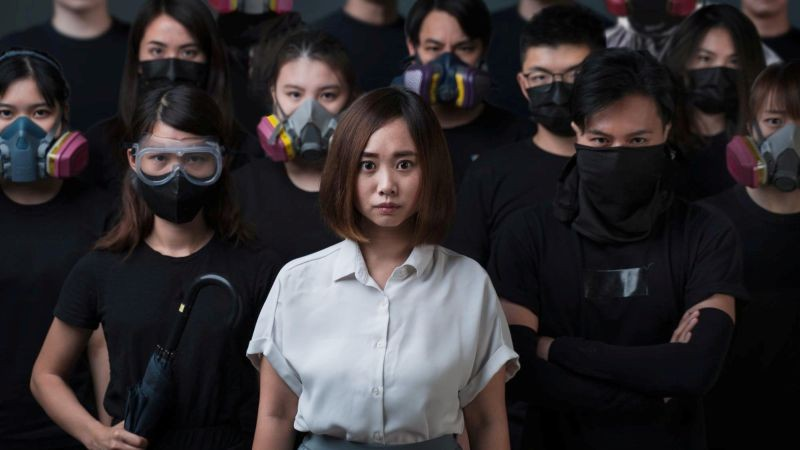 Pro-democracy activist Tiffany Yuen Ka-wai poses during her election campaign in this undated picture taken in Hong Kong, China, and obtained from social media on July 31, 2020. (REUTERS Photo)
