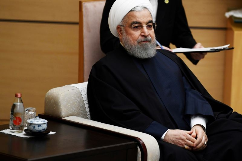 Iranian President Hassan Rouhani meets Japanese Prime Minister Shinzo Abe (not pictured) in Tokyo, Japan on December 20, 2019. (REUTERS File Photo)