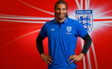 FILE PHOTO: England's goalkeeper David James poses for a photograph after a news conference at the Royal Bafokeng Sports Campus in Rustenburg, South Africa, June 25, 2010. Picture taken June 25, 2010. REUTERS/Michael Regan/Pool/File Photo
