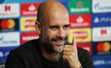 Soccer Football - Champions League - Manchester City Press Conference - Etihad Campus, Manchester, Britain - September 30, 2019   Manchester City manager Pep Guardiola during the press conference     Action Images via Reuters/Carl Recine/File Photo