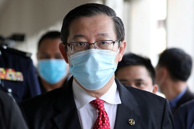 Malaysia's former Finance Minister Lim Guan Eng arrives at Kuala Lumpur High Court in Kuala Lumpur, Malaysia on August 7. (REUTERS Photo)