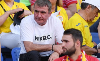 Gheorghe Hagi looks on from inside the stadium before the match REUTERS/Alberto Lingria