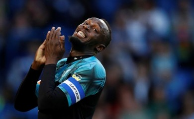Soccer Aid World XI's Usain Bolt reacts Action Images via Reuters/John Sibley