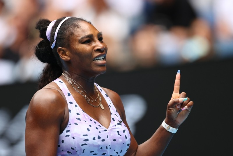 FILE PHOTO: Tennis - Australian Open - Third Round - Melbourne Park, Melbourne, Australia - January 24, 2020 Serena Williams of the U.S. reacts during the match against China's Qiang Wang REUTERS/Kai Pfaffenbach