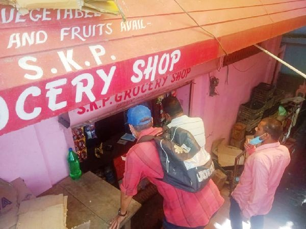 People shopping in one of Grocery Shops in Midland, Kohima on August 3. (Morung Photo)