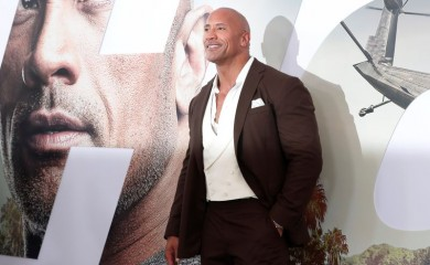"Cast member and producer Dwayne Johnson poses at the premiere for ""Fast & Furious Presents: Hobbs & Shaw"" in Los Angeles, California, U.S., July 13, 2019. REUTERS/Mario Anzuoni/Files"