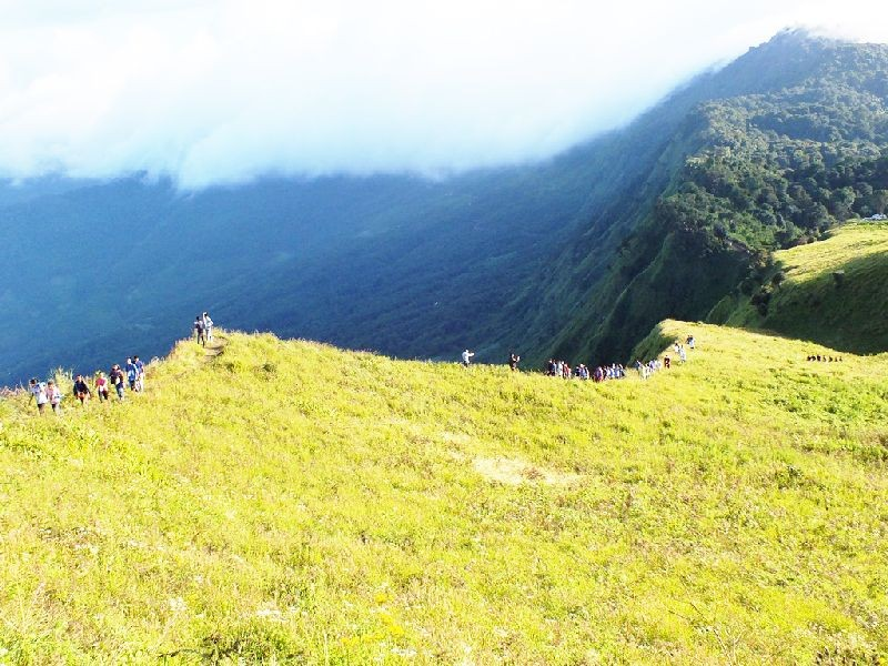 A partial view of Kapamodzu peak in Zhavame village. Delegates of Naga Students' Federation seen scaling the peak during the 1st Federal Assembly of the NSF for the tenure 2019-21 in 2019.