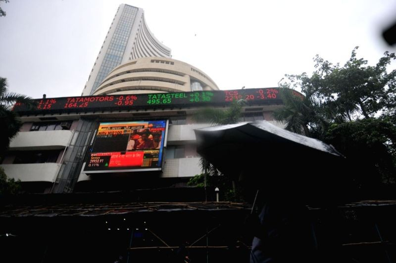 A view of the BSE building in Mumbai. (IANS File Photo)