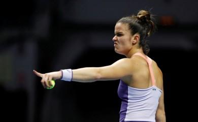 FILE PHOTO: Greece's Maria Sakkari reacts during her semi final match against Kazakhstan's Elena Rybakina REUTERS/Anton Vaganov