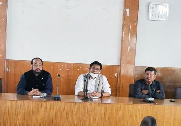 Nagaland DY CM Y Patton and Advisor Mhathung Yanthan during the meeting held in Wokha town on August 27.