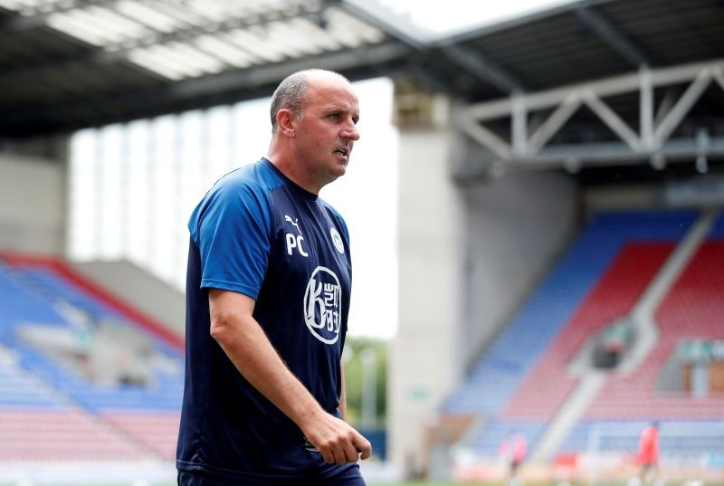 Wigan manager Paul Cook before the match, as play resumes behind closed doors following the outbreak of the coronavirus disease (COVID-19) Action Images/Andrew Boyers/File Photo