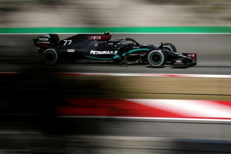 Mercedes' Valtteri Bottas during practice REUTERS/Albert Gea/Pool