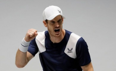 FILE PHOTO: Britain's Andy Murray reacts during his match against Netherlands' Tallon Griekspoor REUTERS/Susana Vera/File Photo