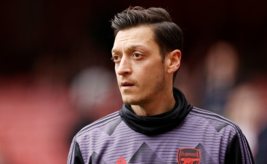 Soccer Football - Premier League - Arsenal v West Ham United - Emirates Stadium, London, Britain - March 7, 2020 Arsenal's Mesut Ozil during the warm up before the match Action Images via Reuters/John Sibley