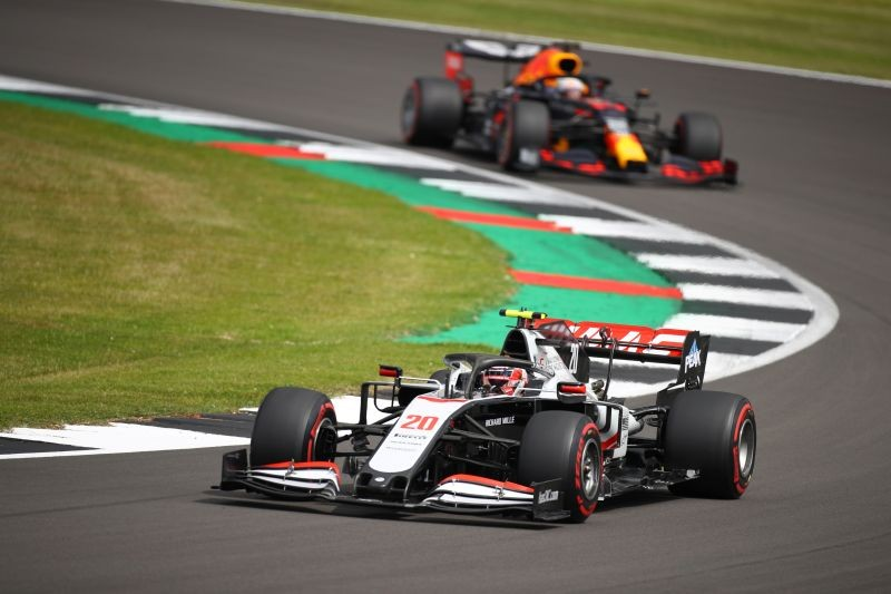 Formula One F1 - British Grand Prix - Silverstone Circuit, Silverstone, Britain - August 1, 2020 Haas' Kevin Magnussen in action during practice Bryn Lennon/Pool via REUTERS