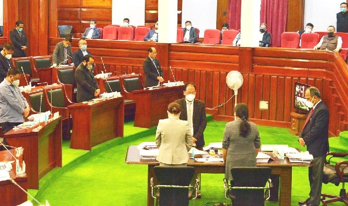 The 6th session of the 13th NLA was held amidst a boycott of the session by the opposition NPF on August 13. (DIPR Photo)