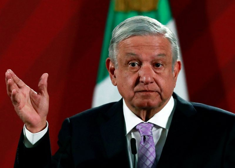 Mexico's President Andres Manuel Lopez Obrador attends a news conference at the National Palace in Mexico City, Mexico on February 18, 2020. (REUTERS File Photo)