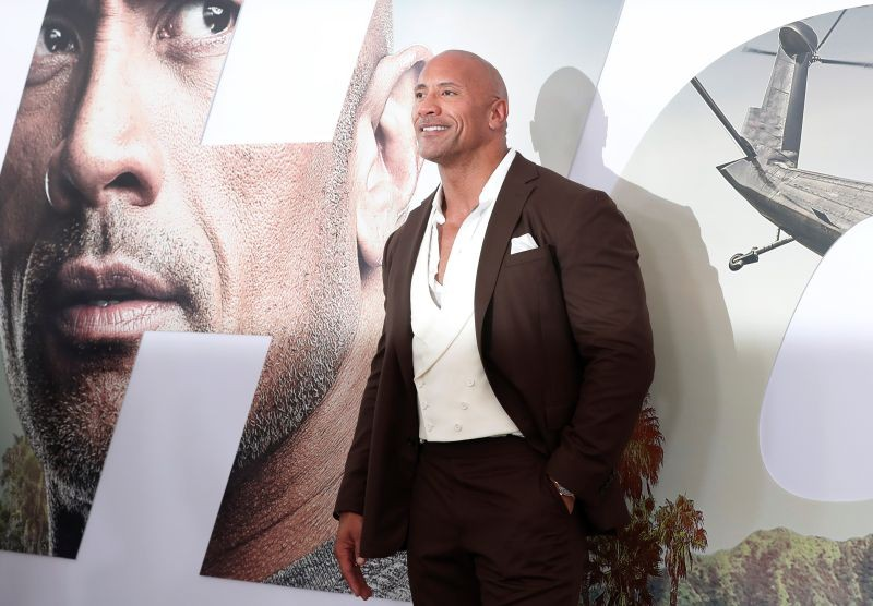 """Cast member and producer Dwayne Johnson poses at the premiere for """"Fast & Furious Presents: Hobbs & Shaw"""" in Los Angeles, California, U.S., July 13, 2019. REUTERS/Mario Anzuoni/Files"""