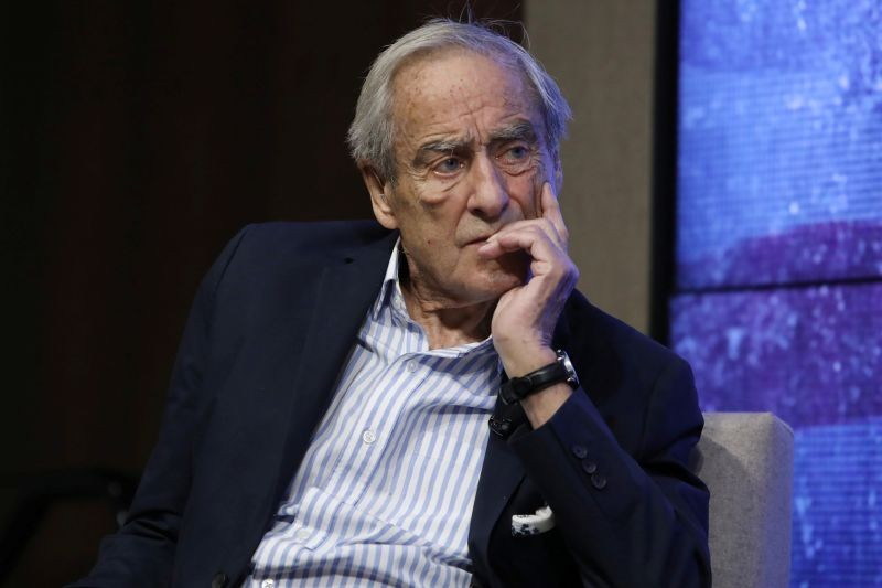 Reuters Editor-at-Large Sir Harold Evans speaks at a Reuters Newsmaker event in New York on September 9, 2019. (REUTERS File Photo)