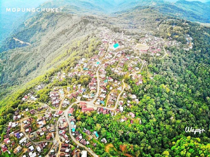 An aerial view of Mopungchuket village. (Photo Courtesy: Mopungchuket on Facebook)
