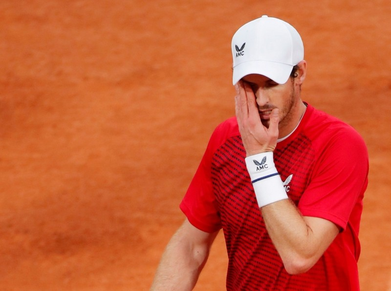 FILE PHOTO: Tennis - French Open - Roland Garros, Paris, France - September 27, 2020. Britain's Andy Murray during his first round match against Switzerland's Stan Wawrinka REUTERS/Charles Platiau/File Photo