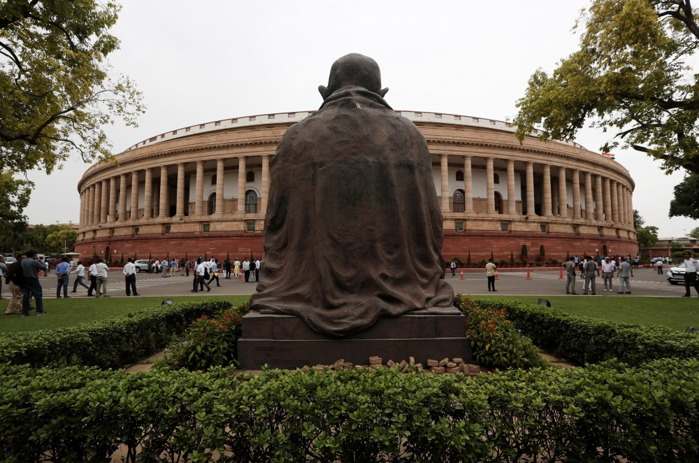 The Indian parliament building is pictured on the opening day of the parliament session in New Delhi, India, June 17, 2019. REUTERS/Adnan Abidi/Files