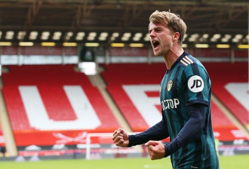 Leeds United's Patrick Bamford celebrates scoring their first goal Pool via REUTERS/Alex Livesey