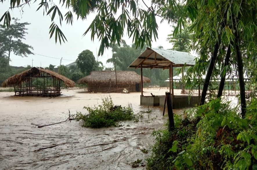 The ASDMA said that in the third wave of floods around 1.79 lakh people were affected in 155 villages on Saturday while one person died in Nagaon district. (IANS Photo)
