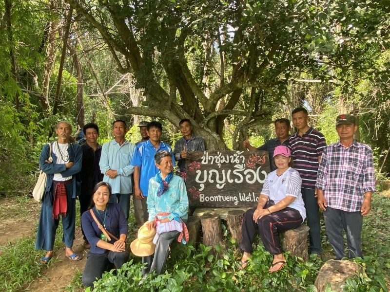 Members of the Boon Rueang Wetland Forest Conservation Group at the community wetland forest in Ban Boon Rueang, Thailand on September 1, 2020. (Thomson Reuters Foundation File Photo)