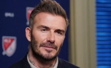 Former soccer player and MLS team owner David Beckham speaks during an interview in the Manhattan borough of New York City, New York, U.S., February 26, 2020. REUTERS/Carlo Allegri/Files