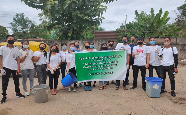 The NSS-Unit Yemhi Memorial College in collaboration with Nepali Basti Council organised a cleanliness drive in observance of NSS Day on September 24 in its 'adopted village' Nepali Basti, Dimapur.
