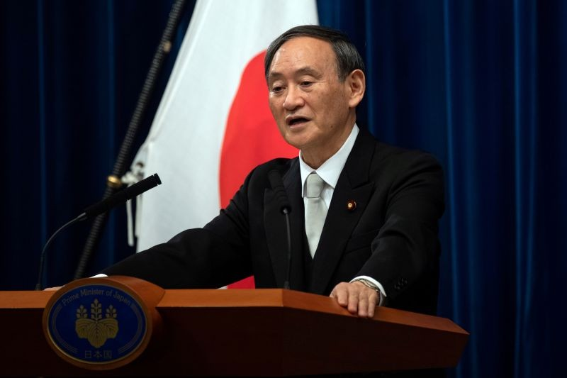 Yoshihide Suga speaks during a news conference following his confirmation as Prime Minister of Japan in Tokyo, Japan on September 16, 2020. (REUTERS File Photo)