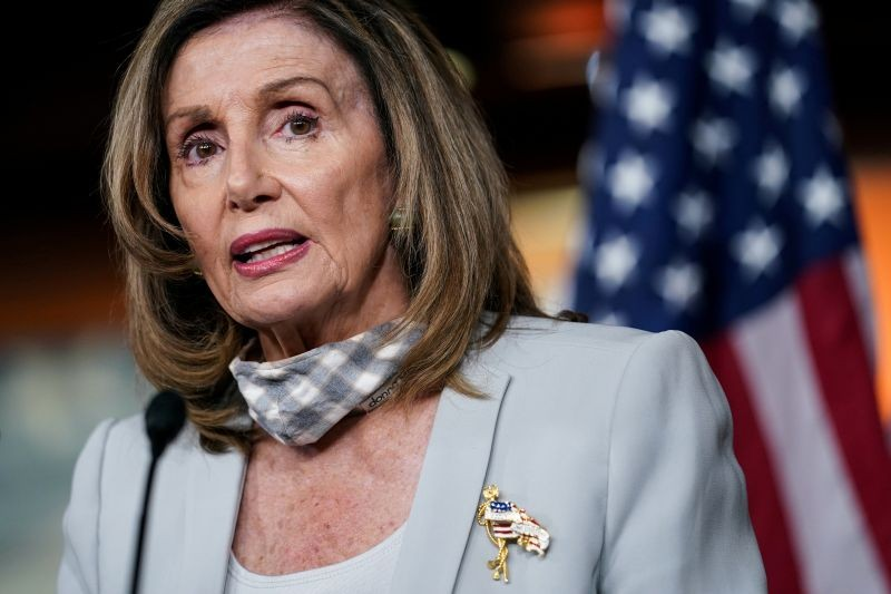 U.S. House Speaker Nancy Pelosi (D-CA) speaks during her weekly news conference on Capitol Hill in Washington, US on August 13, 2020. (REUTERS File Photo)