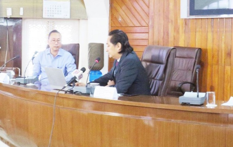 Advisor Imnatiba launches the livelihood generation programme for returned migrant workers due to COVID-19 pandemic for Nagaland at the Civil Secretariat, Kohima on September 28. (DIPR Photo)
