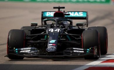 Mercedes' Lewis Hamilton during practice Bryn Lennon/Pool via REUTERS