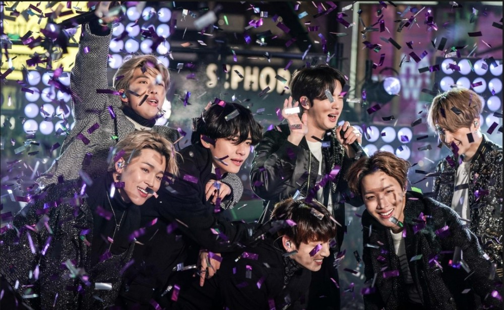 FILE PHOTO: BTS performs during New Year's Eve celebrations in Times Square in the Manhattan borough of New York, U.S., December 31, 2019. REUTERS/Jeenah Moon