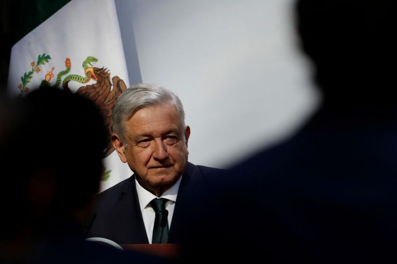Mexico's President Andres Manuel Lopez Obrador delivers his second state of the union address at National Palace in Mexico City, Mexico on September 1, 2020. (REUTERS Photo)