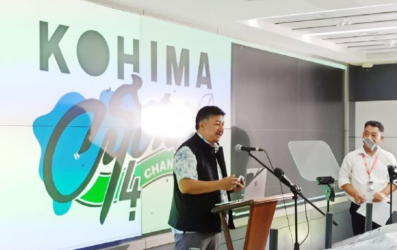 Abu Metha launching the Kohima Cycles4change app on September 25. (Morung Photo)