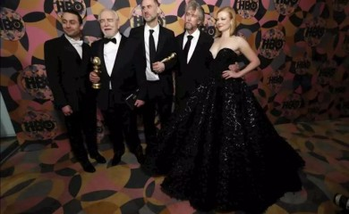 FILE PHOTO: HBO Golden Globe After Party - Beverly Hills, California, U.S., January 5, 2020 - The cast of Succession. REUTERS/Mario Anzuoni