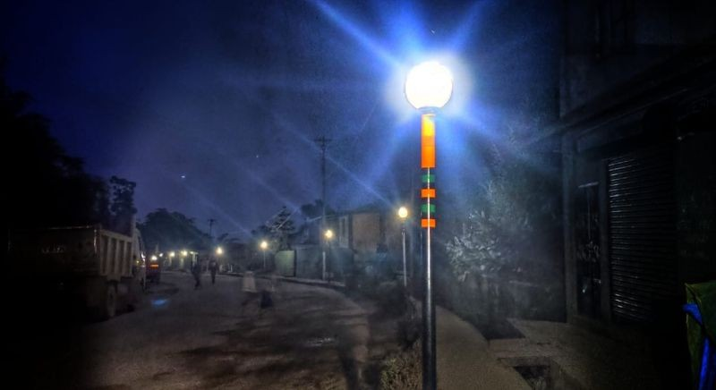 The Brighter Khuzama project was completed after almost two months since the initiative to brighten the streets of the village was taken up by the Khuzama Students' Care Union. (Morung Photo)