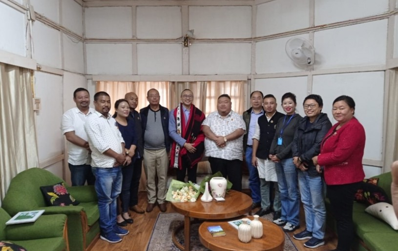State President of Nagaland State BJP Unit, Temjen Imna Along, on September 30, paid a courtesy call to felicitate Advisor Mmhonlumo Kikon at his official residence in Kohima, on his  appointment as Spokesperson at the National level. The party president was accompanied by state office bearers stationed in Kohima.