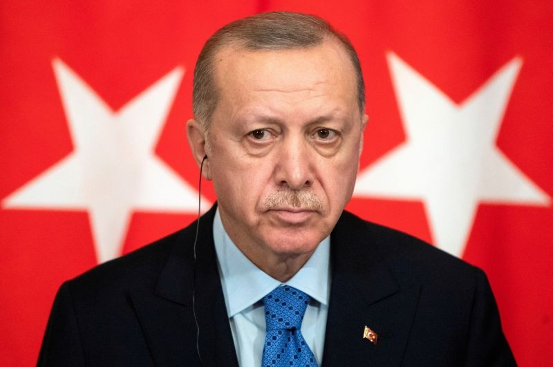 Turkish President Tayyip Erdogan attends a joint news conference with Russian President Vladimir Putin (not pictured) following talks in Moscow, Russia March 5, 2020. (REUTERS File Photo)