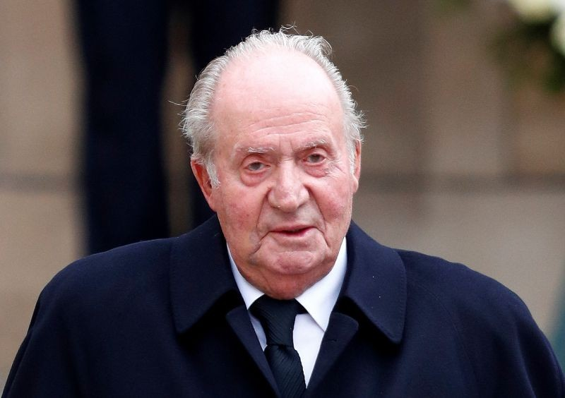 Spain's King Juan Carlos leaves after attending the funeral ceremony of Luxembourg's Grand Duke Jean at the Notre-Dame Cathedral in Luxembourg, May 4, 2019. (REUTERS File Photo)