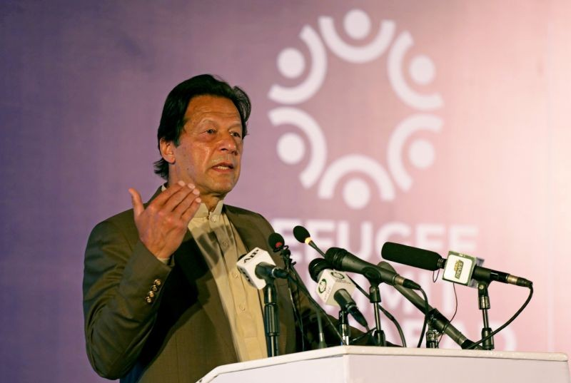Pakistan's Prime Minister Imran Khan speaks during an international conference on the future of Afghan refugees living in Pakistan, organized by Pakistan and the UN Refugee Agency in Islamabad, Pakistan February 17, 2020. (REUTERS File Photo)