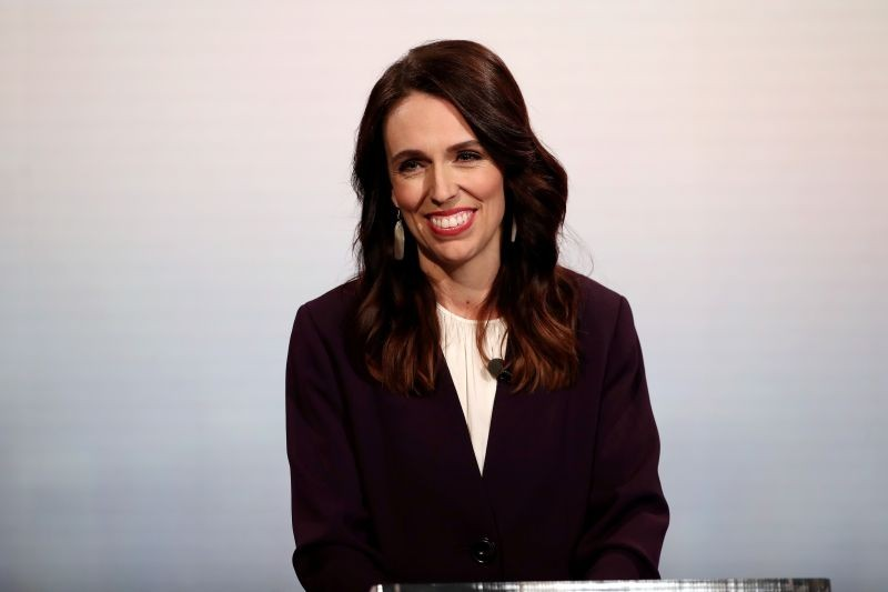 FILE PHOTO: New Zealand Prime Minister Jacinda Ardern participates in a televised debate with National leader Judith Collins at TVNZ in Auckland, New Zealand, September 22, 2020. Fiona Goodall/Pool via REUTERS/File Photo/File Photo