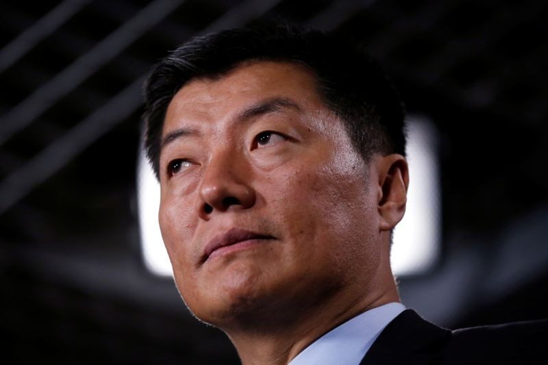 Lobsang Sangay, Prime Minister of the Tibetan government-in-exile, speaks during a news conference on Parliament Hill in Ottawa, Ontario, Canada November 22, 2016. (REUTERS File Photo)