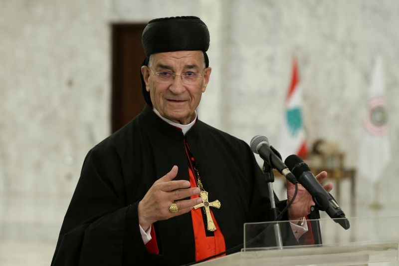 Lebanese Maronite Patriarch Bechara Boutros Al-Rai speaks after meeting with Lebanon's President Michel Aoun at the presidential palace in Baabda, Lebanon July 15, 2020. (REUTERS File Photo)